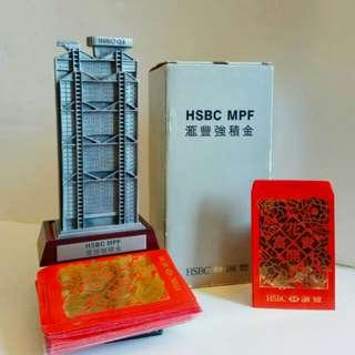 罕有錫合金屬匯豐銀行錢箱❌皇家雪蘭莪鑄造 #附送珍藏舊版滙豐,燙金短裝利是封100個 (歲月珍藏品)
