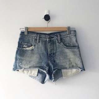 KSUBI denim blue shorts size 25 (AU 6)