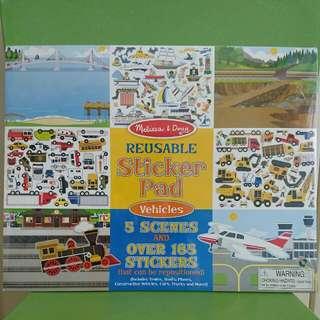 Melissa & Doug Reusable Sticker Pad: Vehicles
