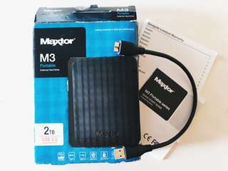 Maxtor Portable External Hard Drive