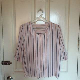 Korean Striped Blouse