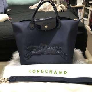 Authentic Longchamp Victoire Bag Navy blue