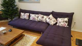 L Shape good condition Structube sofa bed set