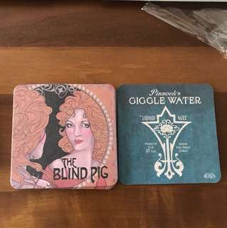 Blind Pig Coasters - Harry Potter Wizarding Word Loot Crate Exclusive