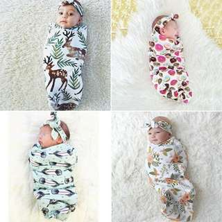Headband Swaddle with Bow Blankets