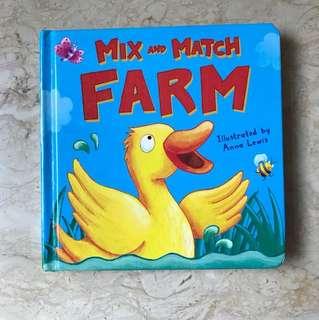 Mix and Match Farm board book