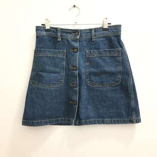 Zara Denim Skirt - Size S/8