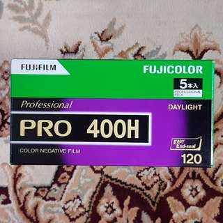 120mm Fujifilm Fujicolor Pro 400H Professional 400 H Fresh Film ( iso 400 ) 120 medium format