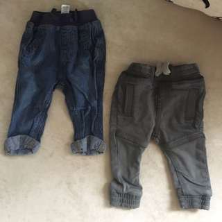 From UK Matal and George Boys Jeans 3-6m