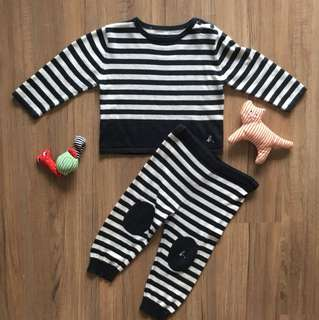 agnes b. Baby cotton cashmere set