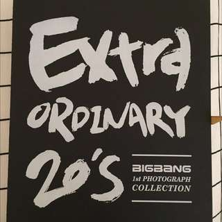 RARE!! COLLECTORS EDITION BIG BANG 1st Photograph Collection - Extraordinary 20's