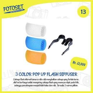 Pop Up Flash Diffuser 3 Color