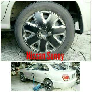 Tyre 185/65 R15 Membat on Nissan Sunny 🐓 Super Offer 🙋