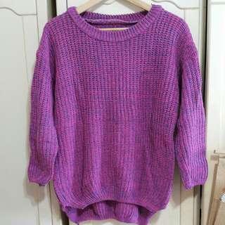 冬日針織長版毛衣