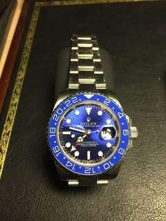 Rolex Mens Blue Watch