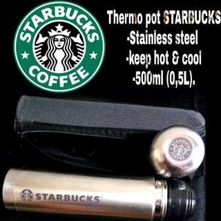 Thermos stainless thermo pot starbucks