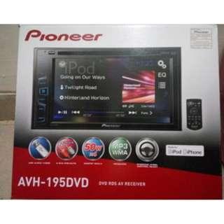 CAR AUDIO @ Pioneer AVH  195 DVD