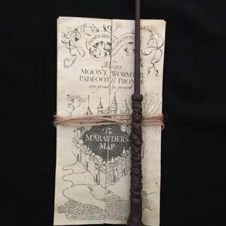 Harry Potter Wand And Marauders Map