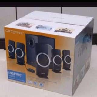 AMAZING SOUND BY Creative 5.1 Ch Speaker Brand New