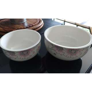 Melaleuca Ceramic Twin Bowl