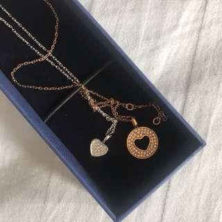 Swarovski set necklace of 2