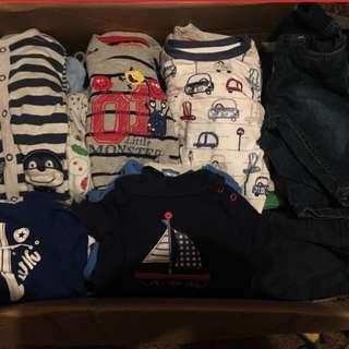 Bundle Baju Baby Boy from UK 0-3-6