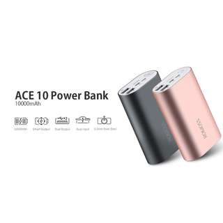 Romoss ACE Power Bank 10000mAh Dual Port-Out + Dual Port-In with Lightning