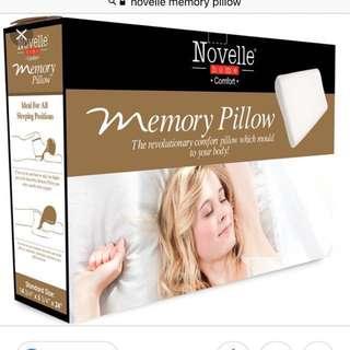 Novelle memory foam pillow x 2
