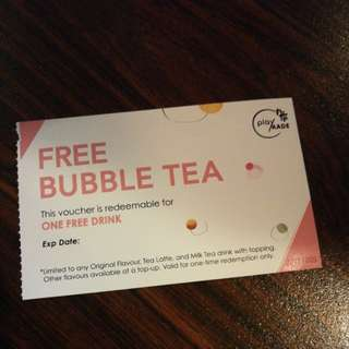 Bubble Tea Voucher (PlayMade Onezo) Many to let go!
