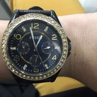 Authentic Fossil Studded Women's Watch