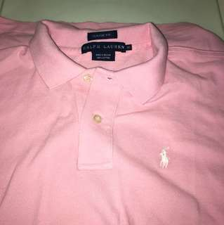 New ralph lauren pink polo