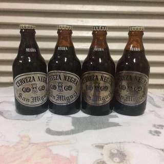 Vintage Miniature Cerveza Negra Glass Bottle