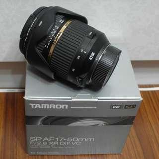 【出售】Tamron 17-50mm F2.8 VC B005N For Nikon 廣角鏡 盒裝完整 9成新