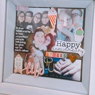 customise handmade shadow box 3d photos frame valentine