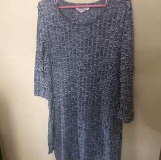Stradivarius gray knit top