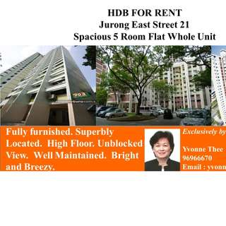 Jurong East Whole Unit For Rent - HDB 5 Room Flat