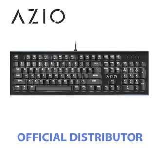 STOCKS AVAILABLE - AZIO MK HUE BACKLIT BROWN SWITCH MECHANICAL KEYBOARD (BLACK)