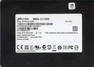 Micron 512 gb Ssd harddisk