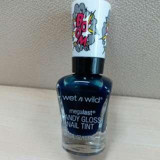 PROMO: kutek wet n wild nail color - a case of blue