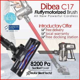 ✔FREE DELIVERY:  Dibea New C17 DUO Cyclone Cordless 2 in 1 Powerful Rage Stick Vacuum Cleaner★