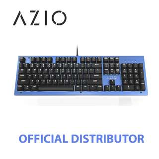 STOCKS AVAILABLE - AZIO MK HUE BACKLIT BROWN SWITCH MECHANICAL KEYBOARD (BLUE)