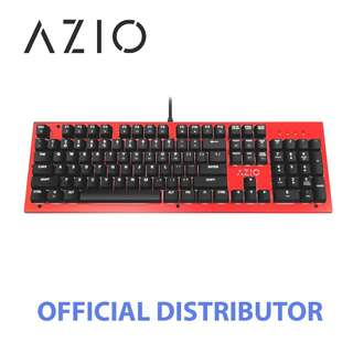STOCKS AVAILABLE - AZIO MK HUE BACKLIT BROWN SWITCH MECHANICAL KEYBOARD (RED)