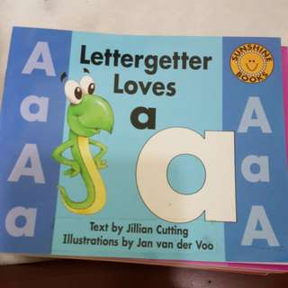 Sunshine readers - lettergetter alphabet books a-z