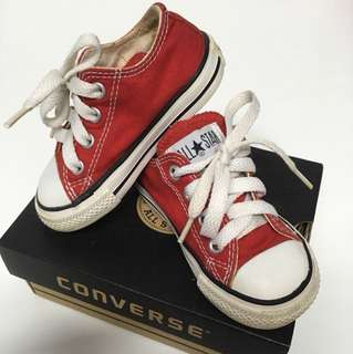 Chili Red Converse Shoe