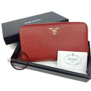 Authentic Prada Saffiano Metal Wallet 1M1348
