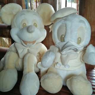 Mickey Mouse & Donald Duck stuffed toys