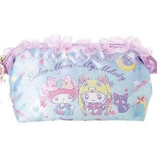 日本予約款SailorMoon x MyMelody 美少女戰士Sanrio合作款第2彈化妝袋收納袋31/1截單3月到港