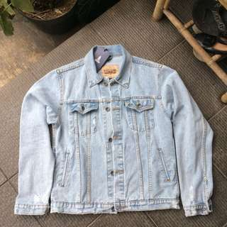Vearst jeans ripped jacket trucker