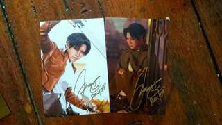 Reika cosplayer postcards with signature