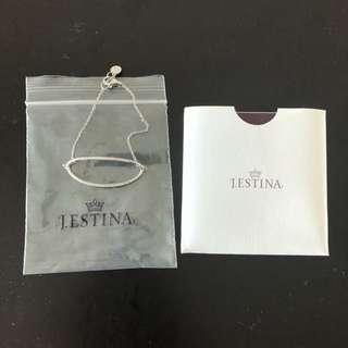 韓國名牌 J.ESTINA 純銀水晶手鏈